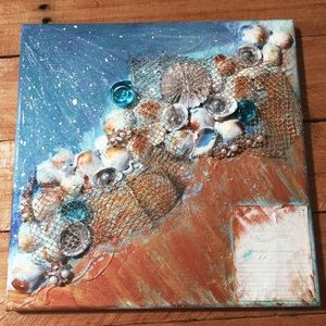 3D Hand Painted Ocean Scene On Canvas